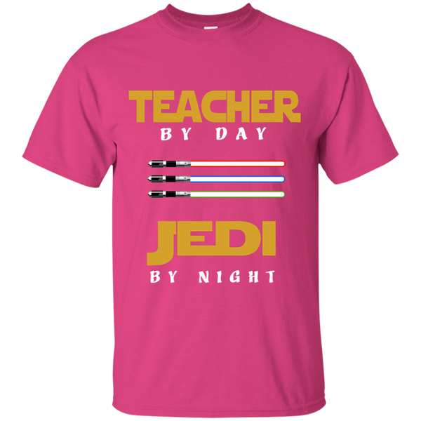Teacher by Day Jedi by Night Cotton T-Shirt - TeachersLoungeShop - 8