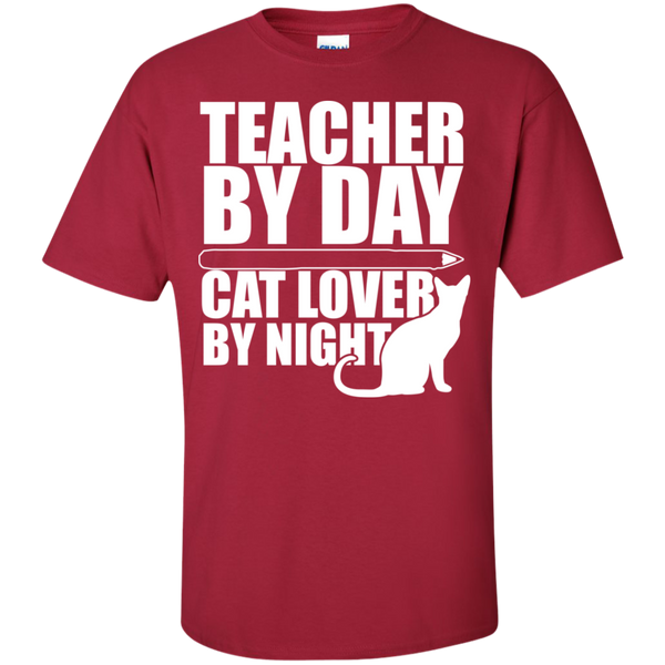 Teacher by Day Cat Lover by Night  T-Shirt - TeachersLoungeShop - 9