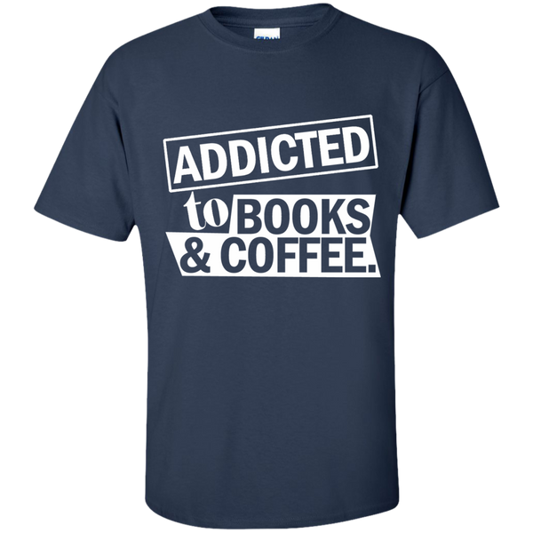 Addicted to Books and Coffee Cotton T-Shirt - TeachersLoungeShop - 10