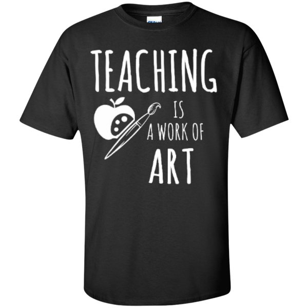 Teaching is a Work of Art Teacher T-shirt Hoodie - TeachersLoungeShop - 1