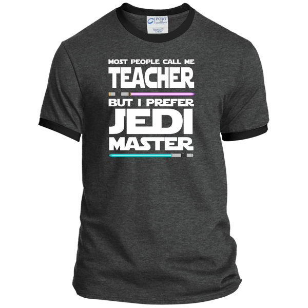 Most People Call Me Teacher But I Prefer Jedi Master Ringer Tee - TeachersLoungeShop - 3