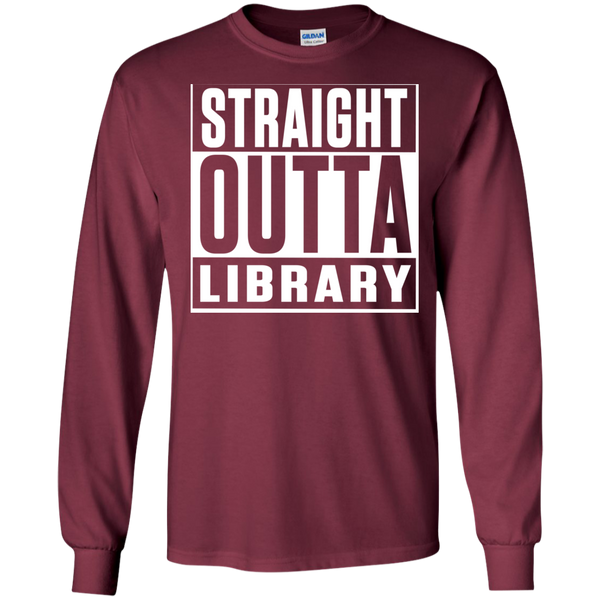 Straight Outta Library  LS Ultra Cotton Tshirt - TeachersLoungeShop - 6