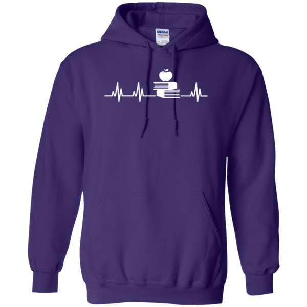 Teacher Heartbeat T-shirt Hoodies - TeachersLoungeShop - 9