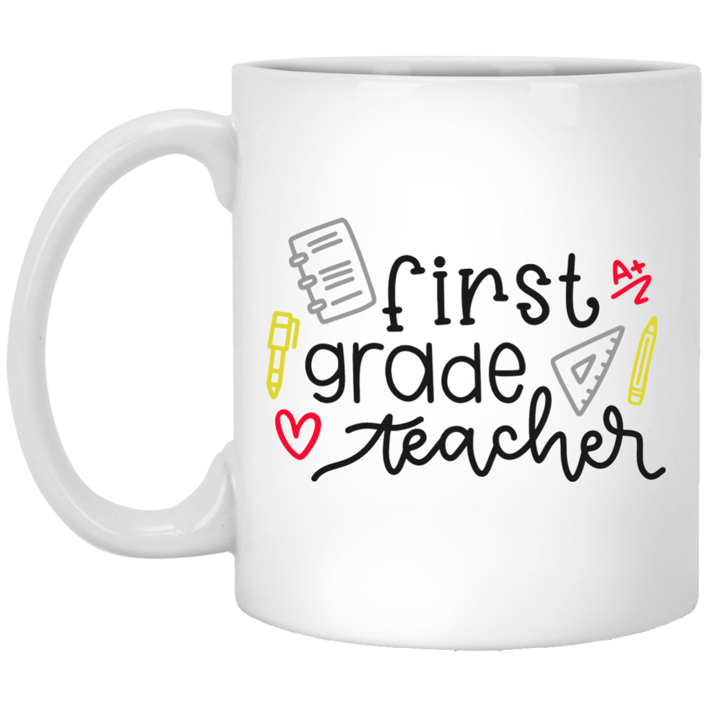 First Grade Teacher 11 oz. White Mug