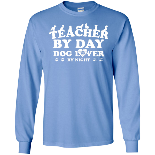 Teacher By Day Dog Lover by Night LS Ultra Cotton Tshirt - TeachersLoungeShop - 9