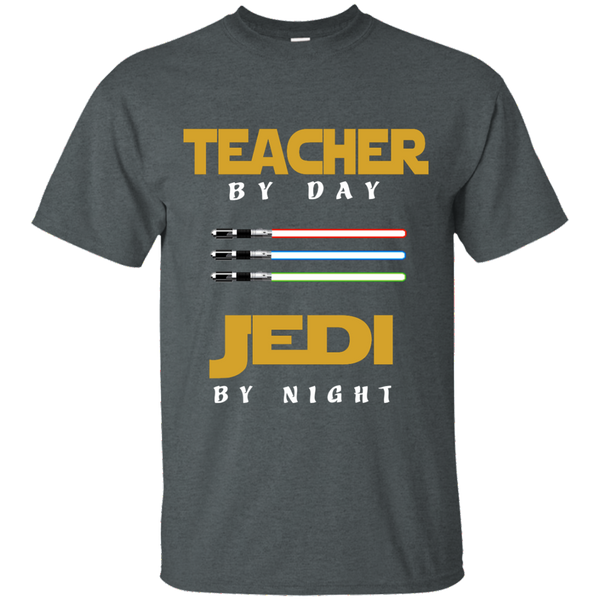 Teacher by Day Jedi by Night Cotton T-Shirt - TeachersLoungeShop - 7
