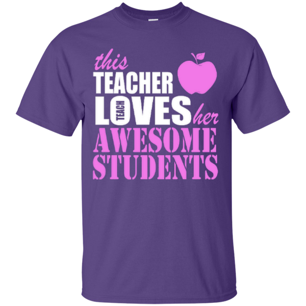 This Teacher Loves her Awesome Students T-shirt Hoodies - TeachersLoungeShop - 6