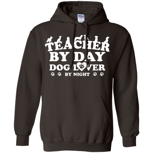 Teacher By Day Dog Lover by Night  Hoodie 8 oz - TeachersLoungeShop - 5