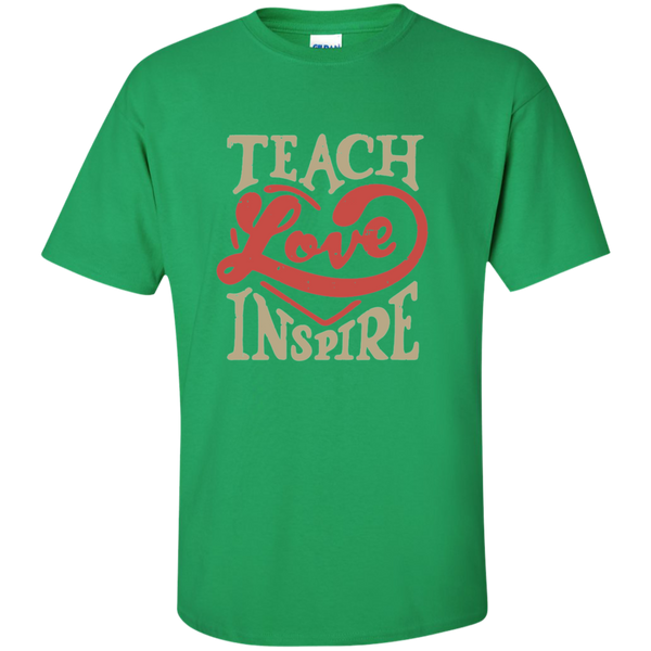 Teach Love Inspire Teacher Cotton T-Shirt - TeachersLoungeShop - 4
