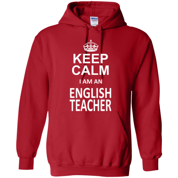 Keep Calm i'm an English Teacher T-shirt Hoodie - TeachersLoungeShop - 10
