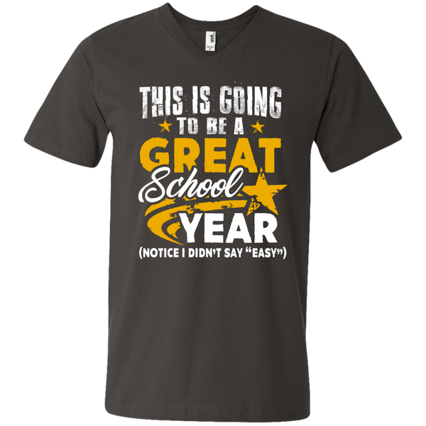 This is Going to be a Great School Year Men's   Printed V-Neck T - TeachersLoungeShop - 3
