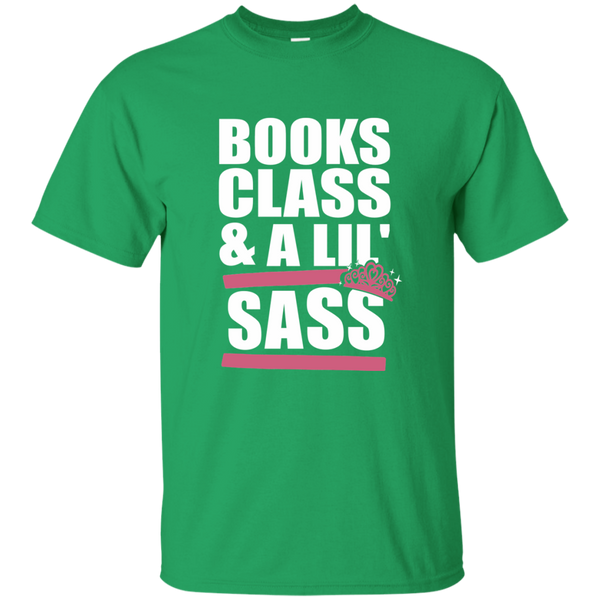 Books Class and A Little Sass Cotton T-Shirt - TeachersLoungeShop - 9