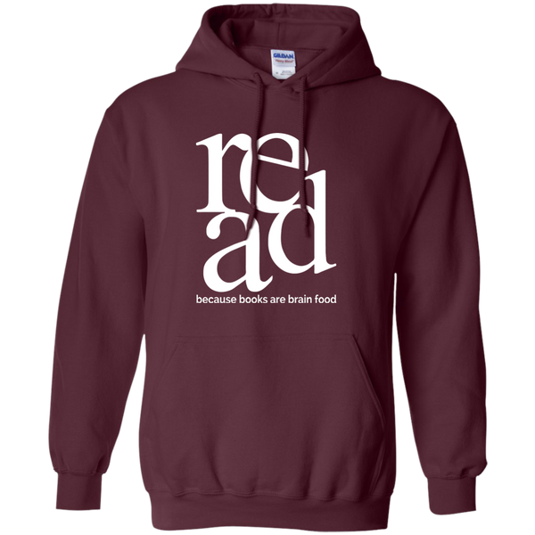 Read Because Books Are Brain Food Pullover Hoodie 8 oz - TeachersLoungeShop - 5