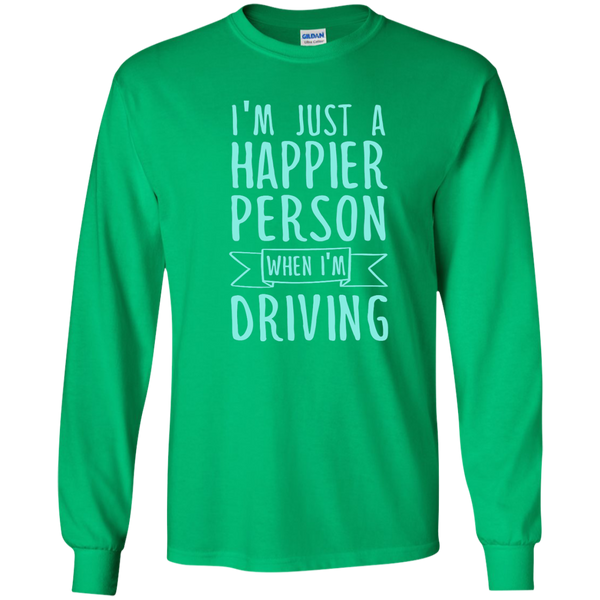 I'm Just a Happier Person When I'm Driving LS Ultra Cotton Tshirt - TeachersLoungeShop - 4