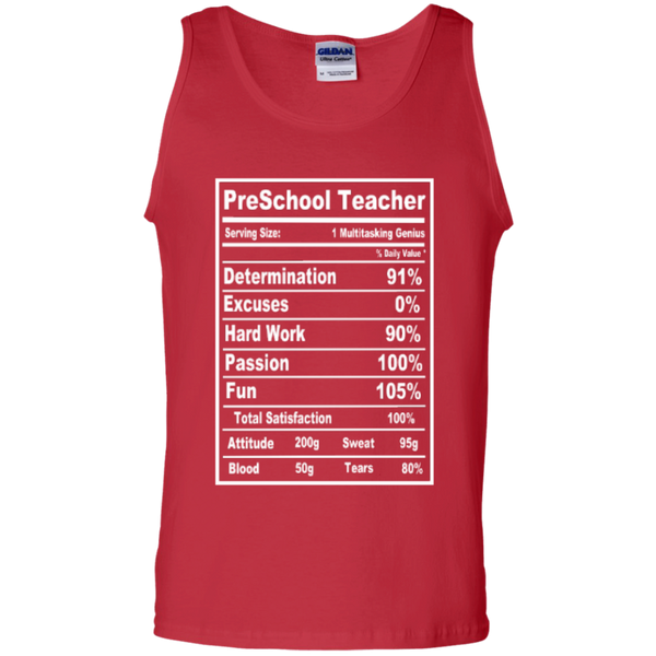 PreSchool Teacher Serving Size Nutrition  100% Cotton Tank Top - TeachersLoungeShop - 3