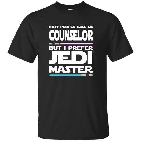 Most People Call Me Counselor But I Prefer Jedi Master Cotton T-Shirt - TeachersLoungeShop - 1