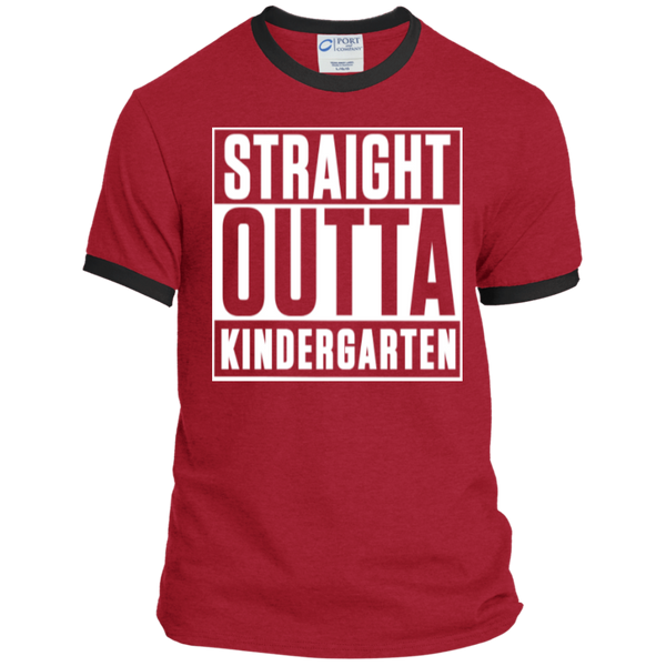 Straight Outta Kindergarten   Ringer Tee - TeachersLoungeShop - 7
