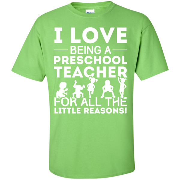 I love being a Preschool Teacher T-Shirt - TeachersLoungeShop - 8