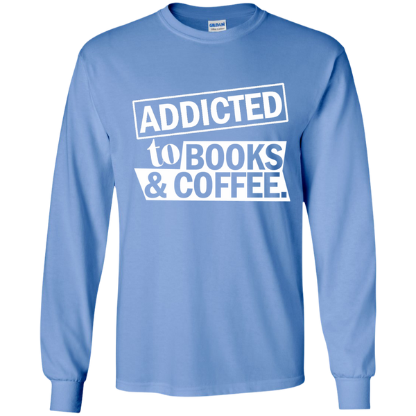 Addicted to Books and Coffee LS Ultra Cotton Tshirt - TeachersLoungeShop - 6