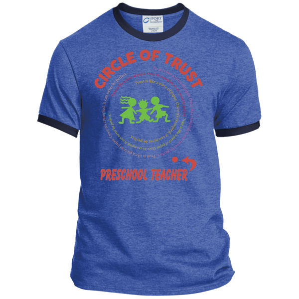 Preschool Teacher Circle of Trust Ringer Tee - TeachersLoungeShop - 6