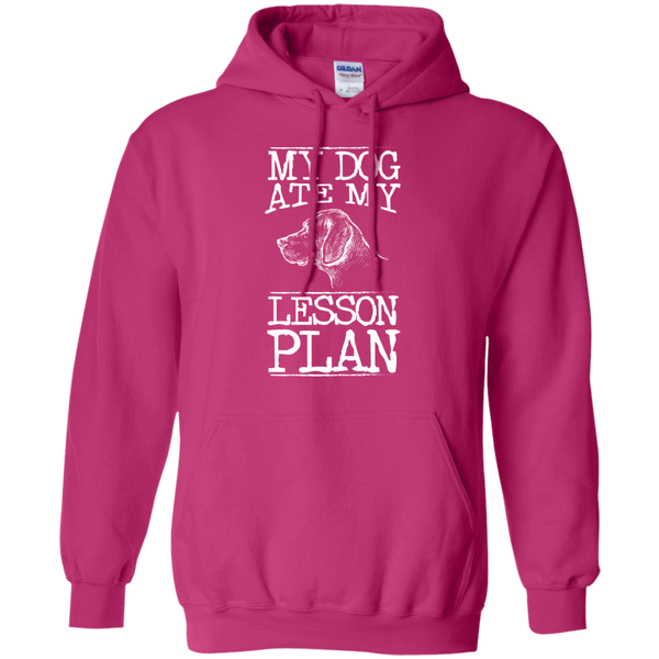 My Dog Ate my Lesson Plan  Hoodie 8 oz - TeachersLoungeShop - 7