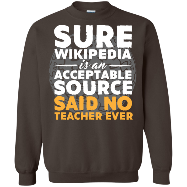 Printed Crewneck Pullover Sweatshirt  8 oz - TeachersLoungeShop - 7