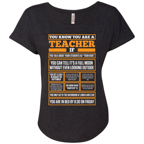 You know You are a Teacher if    Level Ladies Triblend Dolman Sleeve - TeachersLoungeShop - 4