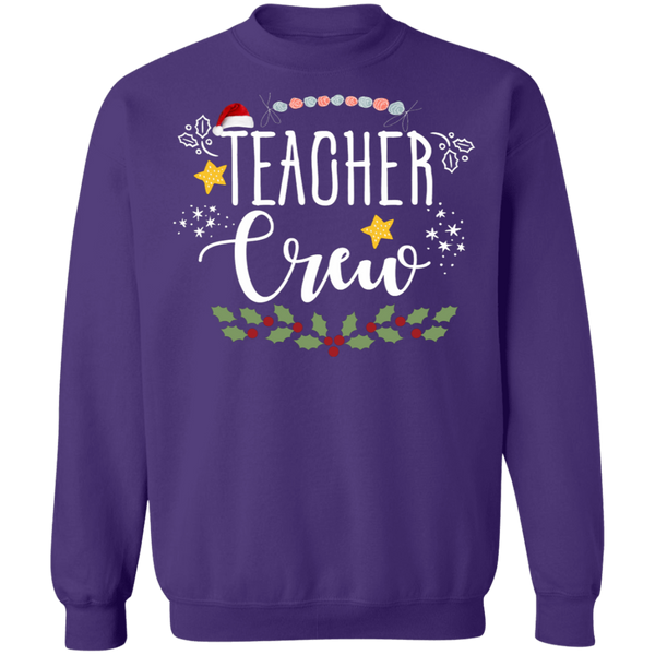 Teacher crew Crewneck Pullover Sweatshirt  8 oz.