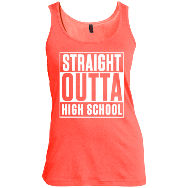 Straight Outta High School Women's Scoop Neck Tank Top - TeachersLoungeShop - 2
