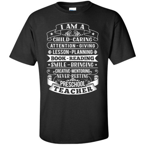 I am Preschool Teacher T-shirt Hoodie - TeachersLoungeShop - 1