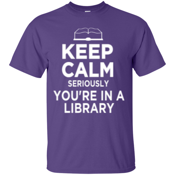 Keep Calm Seriously You're in a Library - TeachersLoungeShop - 11