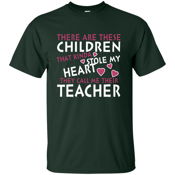 There are these Children that Kinda Stole My Heart They call Me Their Teacher Ultra Cotton T-Shirt - TeachersLoungeShop - 3