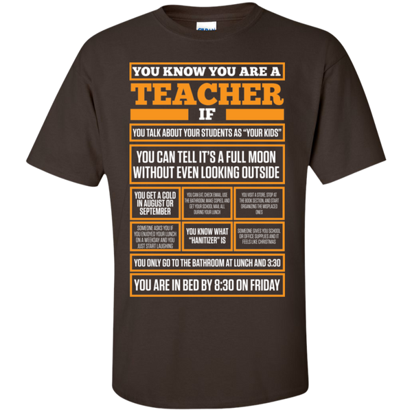 You know You are a Teacher if  T-Shirt - TeachersLoungeShop - 3