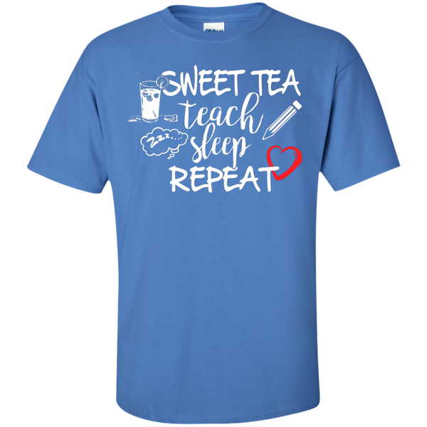 Sweet Tea Teach Sleep Repeat  T-Shirt - TeachersLoungeShop - 4