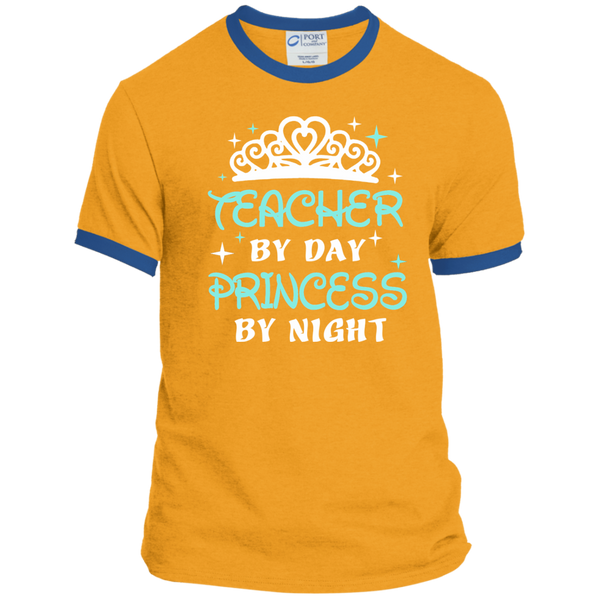 Teacher By Day Princess By Night ver2 Ringer Tee - TeachersLoungeShop - 4