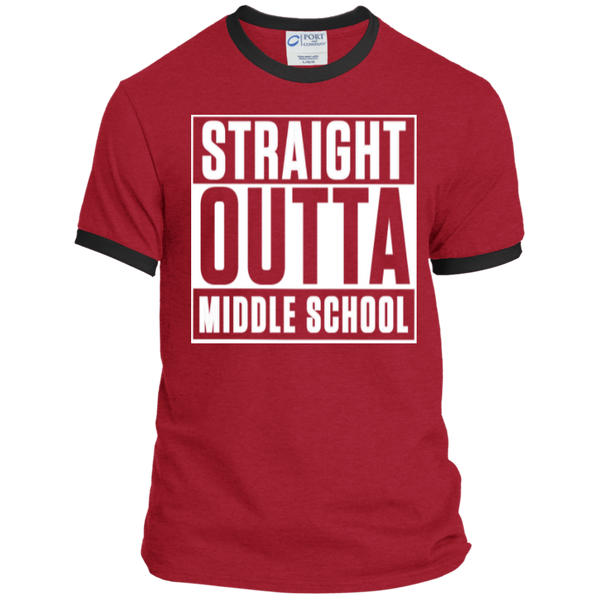 Straight Outta Middle School Ringer Tee - TeachersLoungeShop - 7