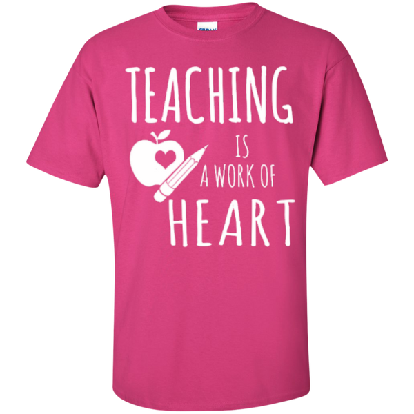 Teaching is a Work of Heart Teacher T-shirt Hoodie - TeachersLoungeShop - 4