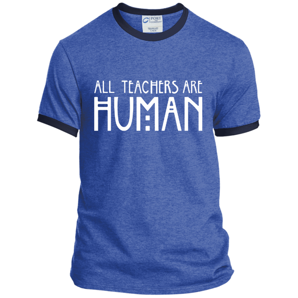 All Teachers Are Human Ringer Tee - TeachersLoungeShop - 6