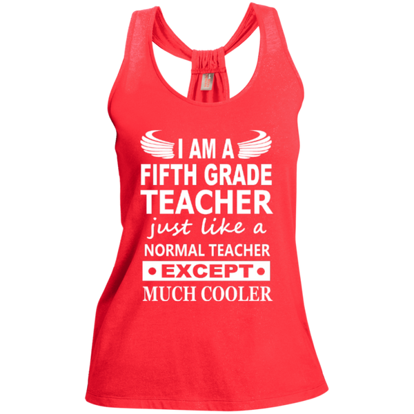 I am a Fifth Grade Teacher just like a normal teacher except Much Cooler   Shimmer Loop Back Tank - TeachersLoungeShop - 2