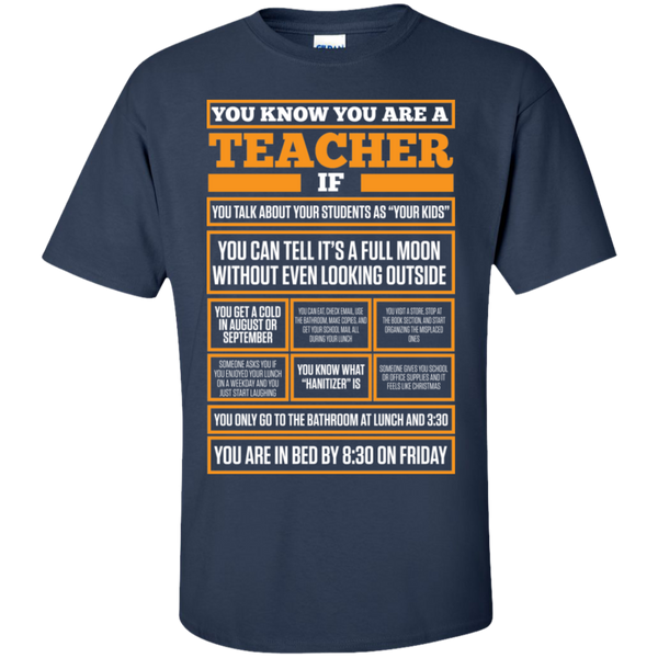 You know You are a Teacher if  T-Shirt - TeachersLoungeShop - 10