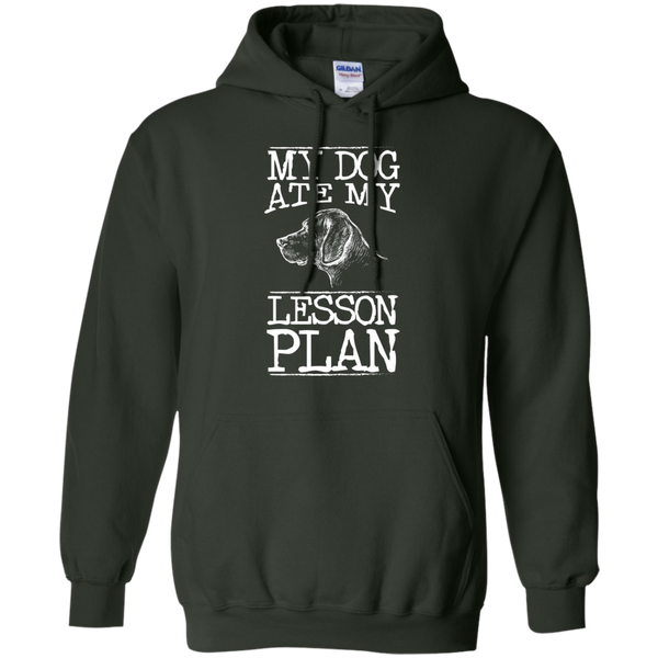 My Dog Ate my Lesson Plan  Hoodie 8 oz - TeachersLoungeShop - 6