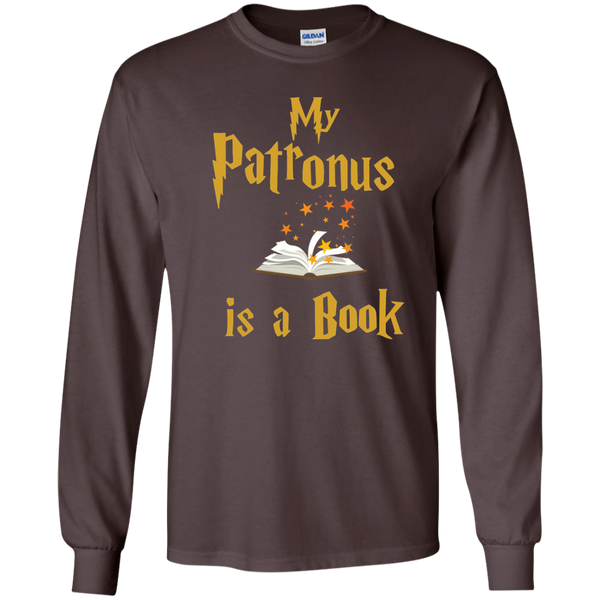 My Patronus is a Book LS Ultra Cotton Tshirt - TeachersLoungeShop - 3