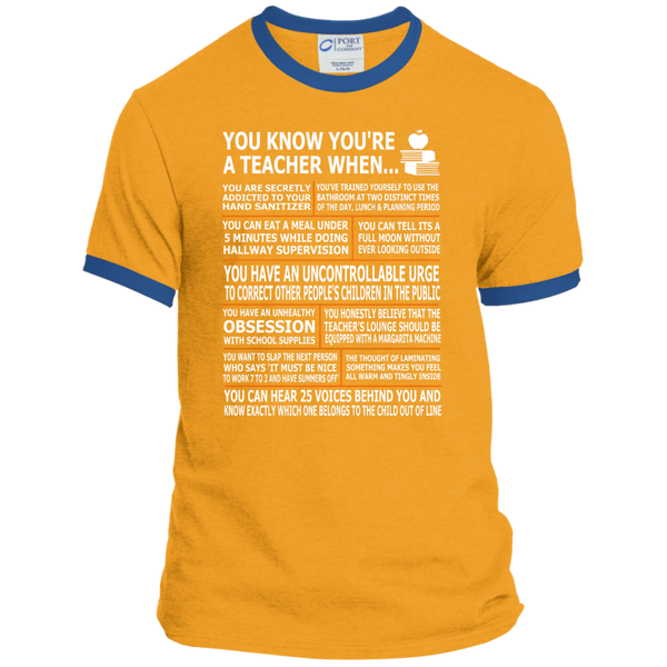 You Know You're a Teacher When Ringer Tee - TeachersLoungeShop - 4