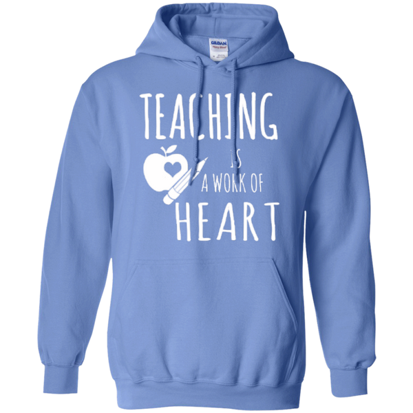 Teaching is a Work of Heart Teacher T-shirt Hoodie - TeachersLoungeShop - 7