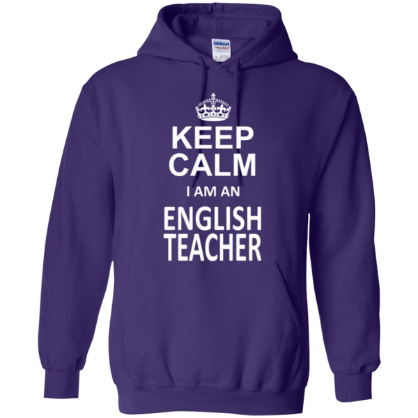 Keep Calm i'm an English Teacher T-shirt Hoodie - TeachersLoungeShop - 9