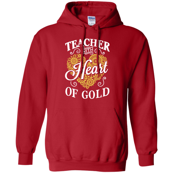 Teacher with Heart of Gold  Hoodie 8 oz - TeachersLoungeShop - 11