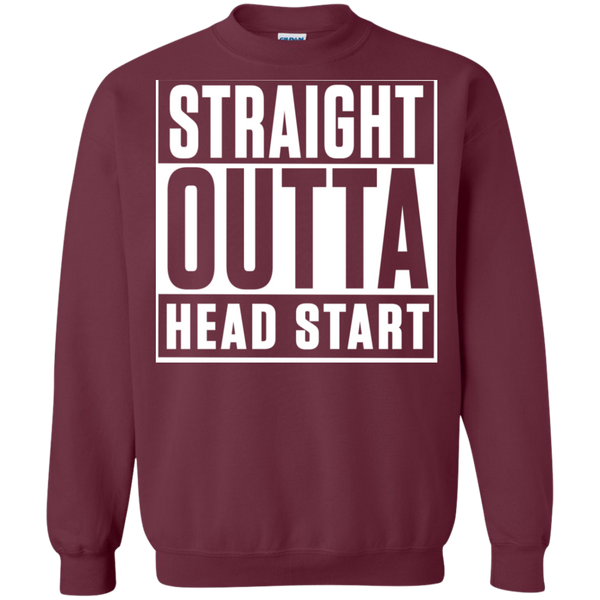 Straight Outta Head Start  Crewneck Pullover Sweatshirt  8 oz - TeachersLoungeShop - 2