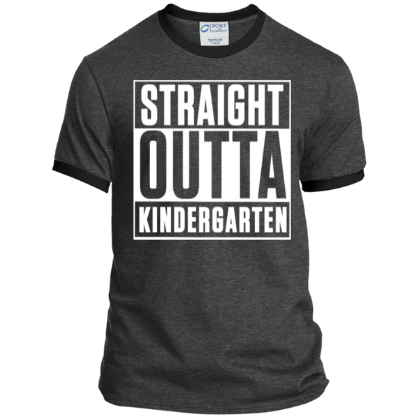 Straight Outta Kindergarten   Ringer Tee - TeachersLoungeShop - 2