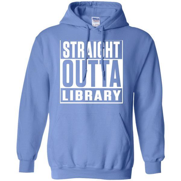Straight Outta Library  Hoodie 8 oz - TeachersLoungeShop - 4
