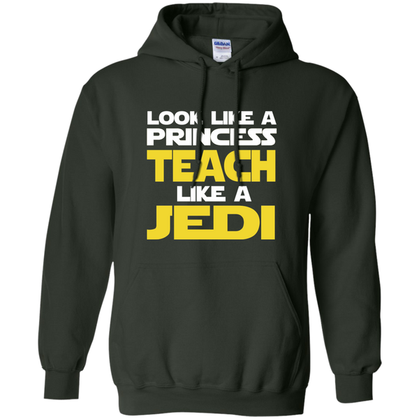 Look Like a Princess Teach Like a Jedi Pullover Hoodie 8 oz - TeachersLoungeShop - 6